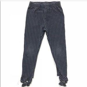 Ralph Lauren navy & white polka dot leggings